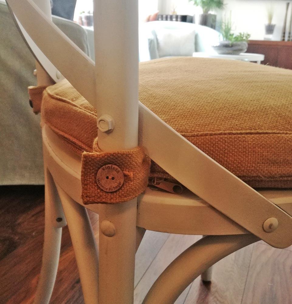 cojin a medida para asiento de silla violeta decoraciones
