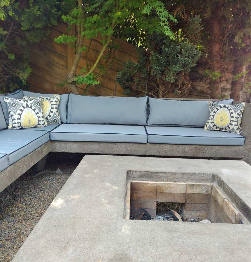 cojines a medida para terraza exterior violeta decoraciones