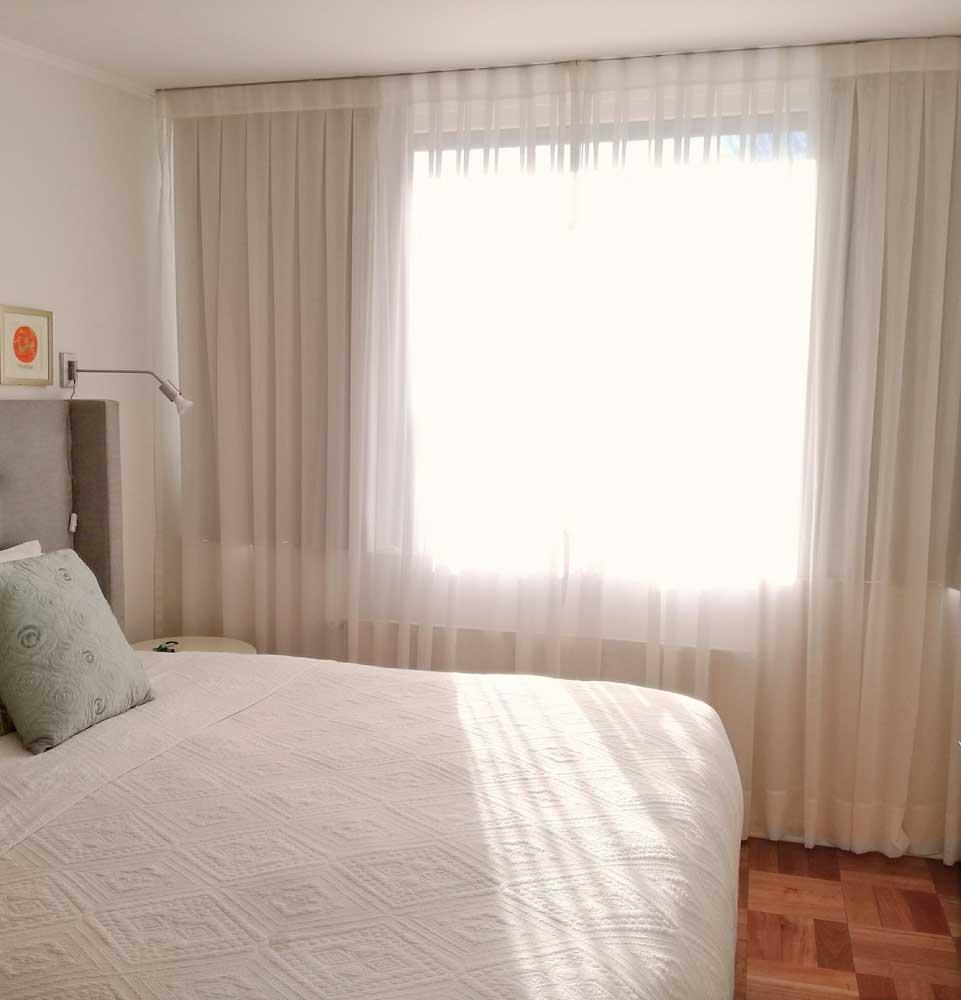 cortina tradicional velo y black out para dormitorio violeta decoraciones