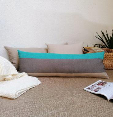 Cojín de lino belga bicolor