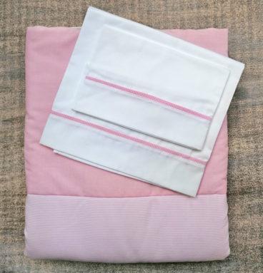 Conjunto de sábana y cobertor para moisés